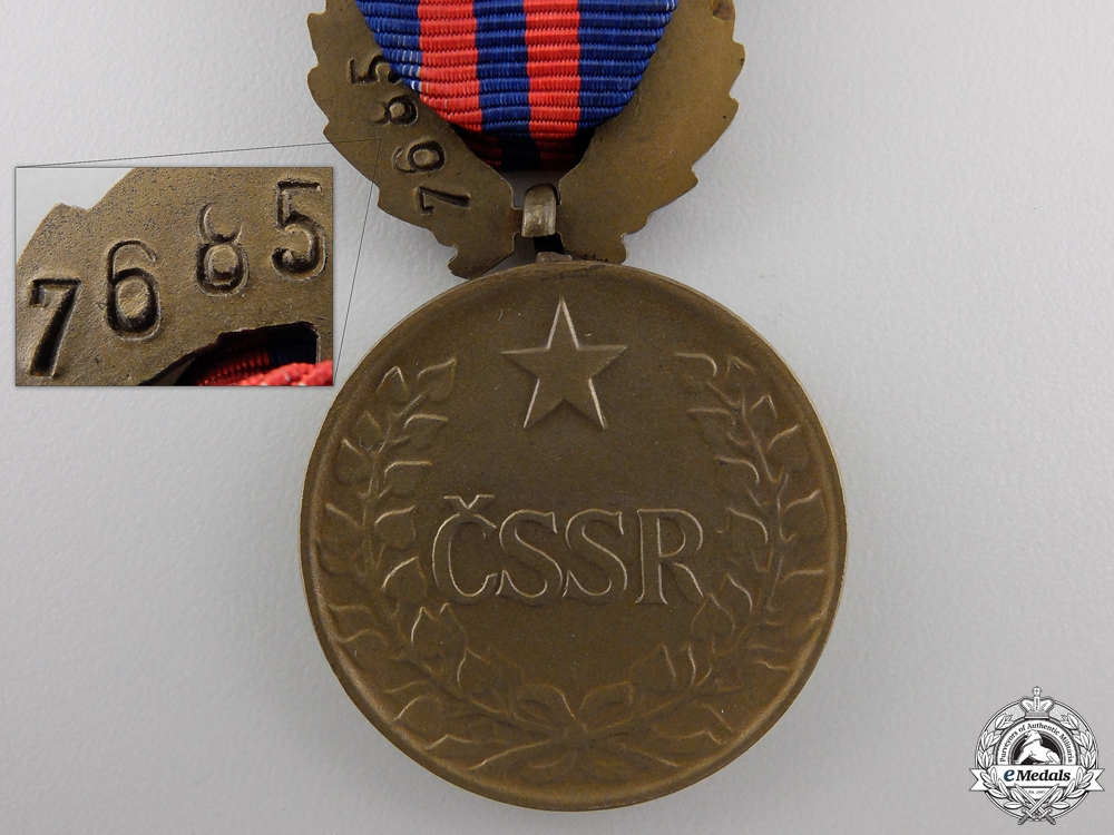 A Czechoslovakian Decoration for Outstanding Labour with Case