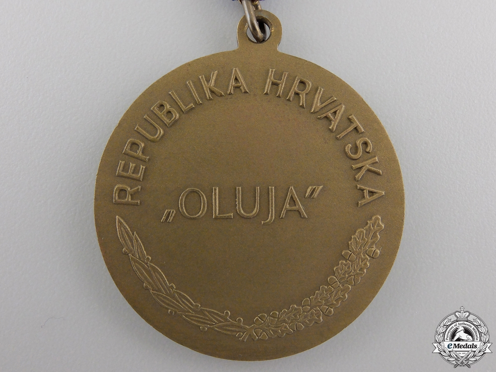 A 1995 Republika Hrvatska Operation Storm Medal with Case