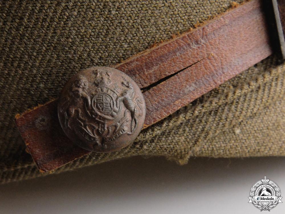 A First War Canadian Officer's Dress Visor by Tress & Co