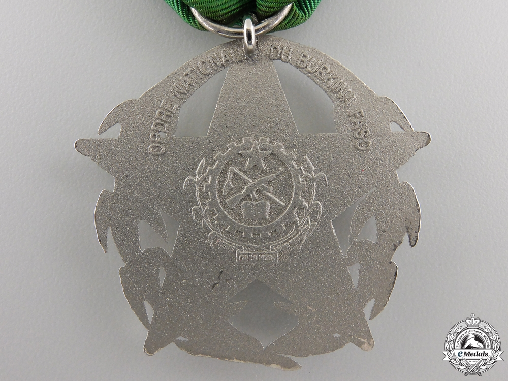 French Colonial. An Order of National Merit of Burkina Faso, Knight