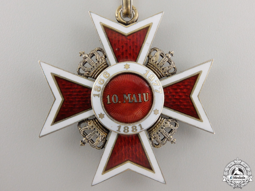 Romania, Kingdom. An Order of the Crown, Commander, by C.F. Zimmermann