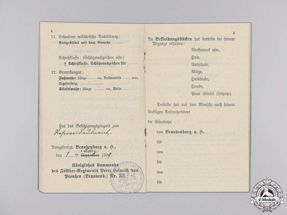 Franco Prussian War Documents & Militarpss