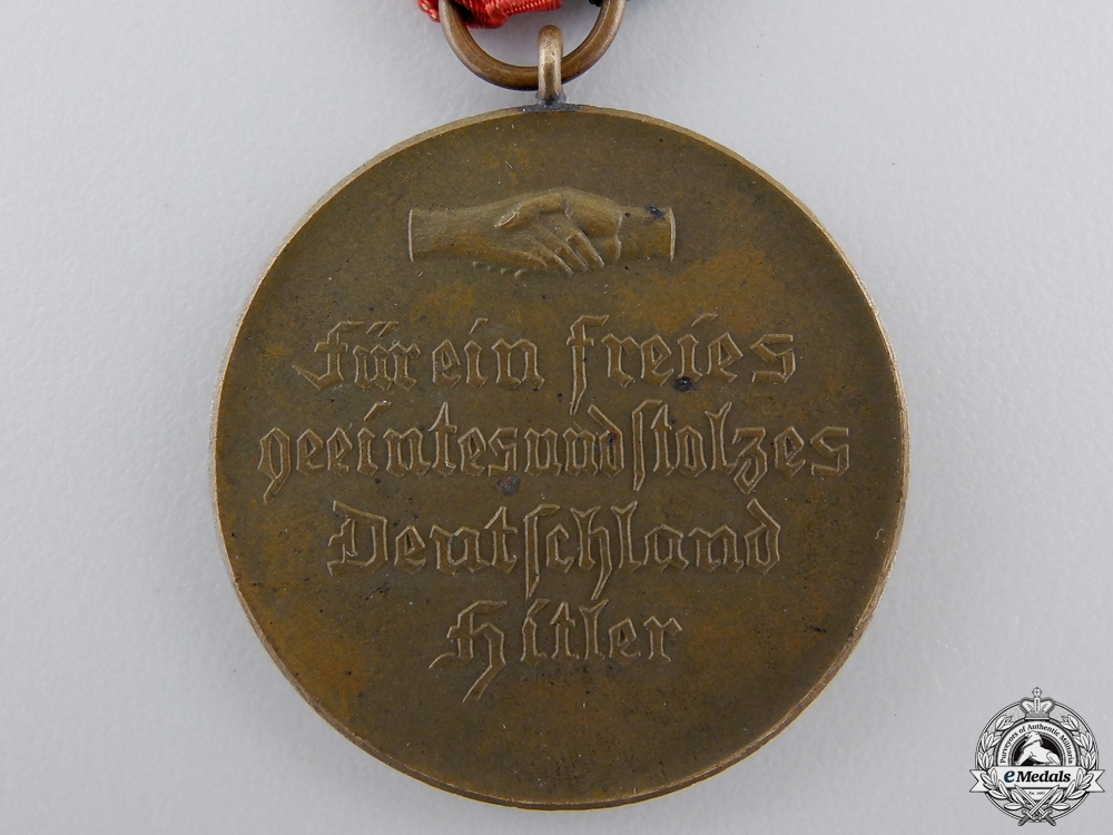 A 1933 AH and Hindenburg Unity Medal with Case