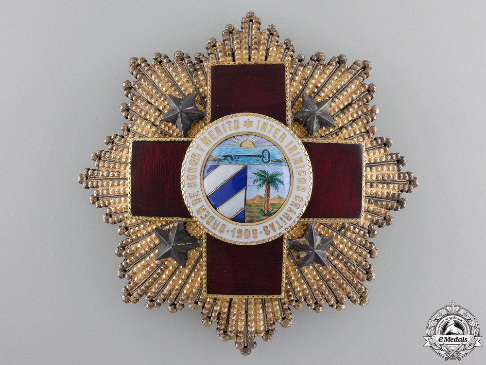 A Cuban Red Cross Order; Grand Cross by B.Castells of Barcelona