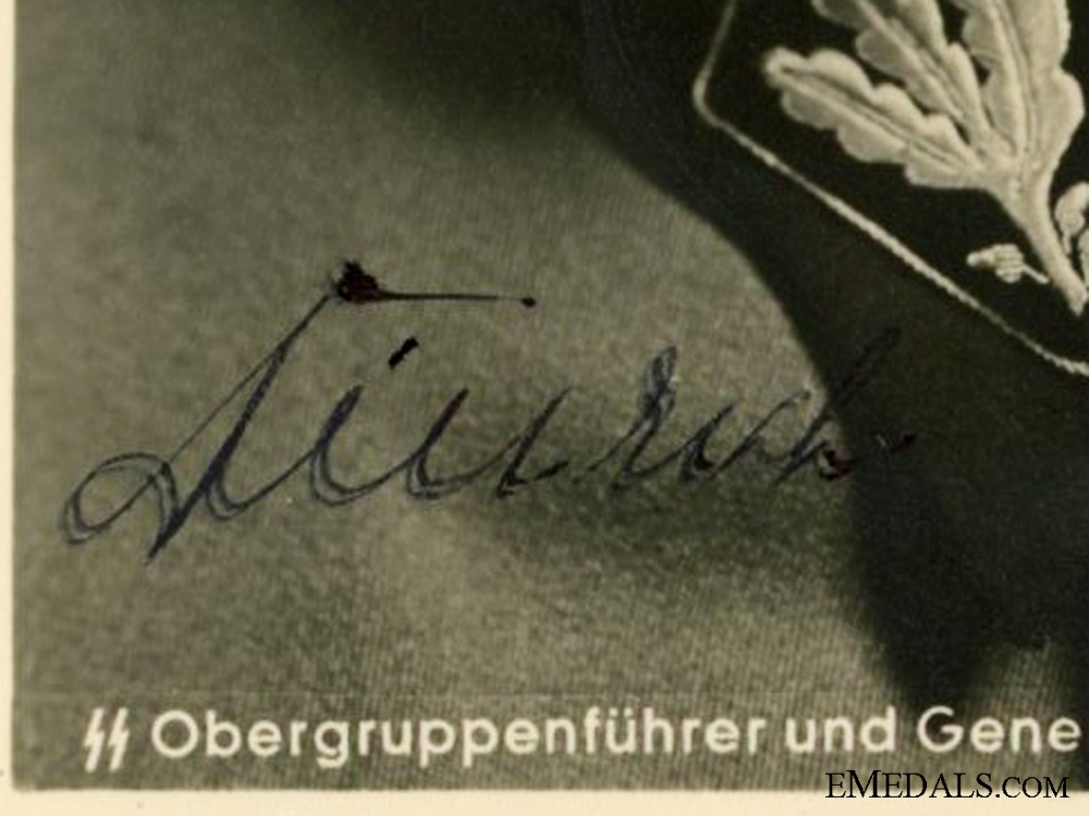 The Signature of SS General Josef Dietrich
