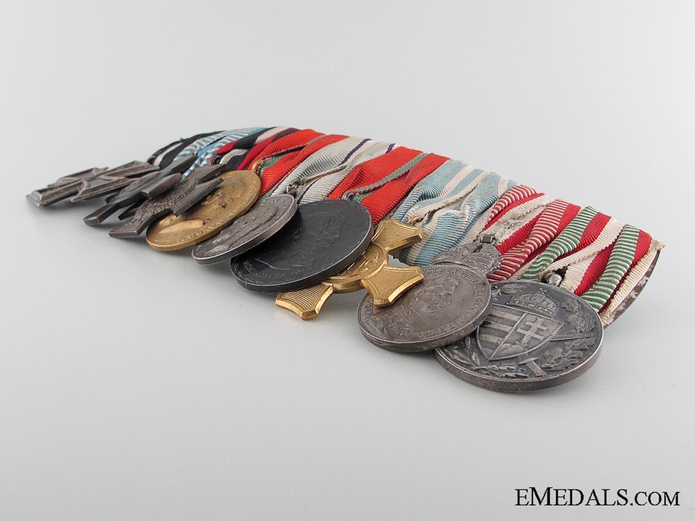 A WWI Period Bavarian Nine Piece Medal Bar