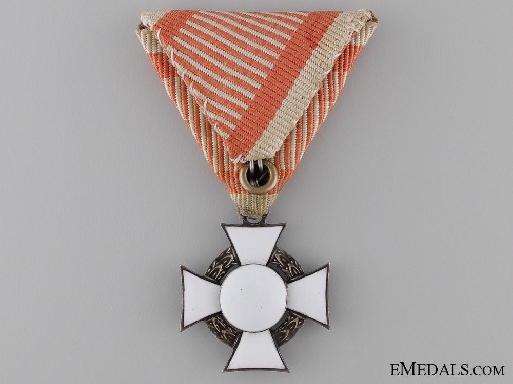 An Austrian Cased Military Merit Cross; Third Class