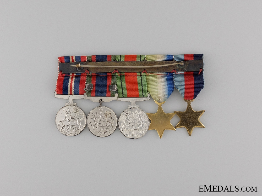 A Second War Canadian Naval Medal Group with Miniatures