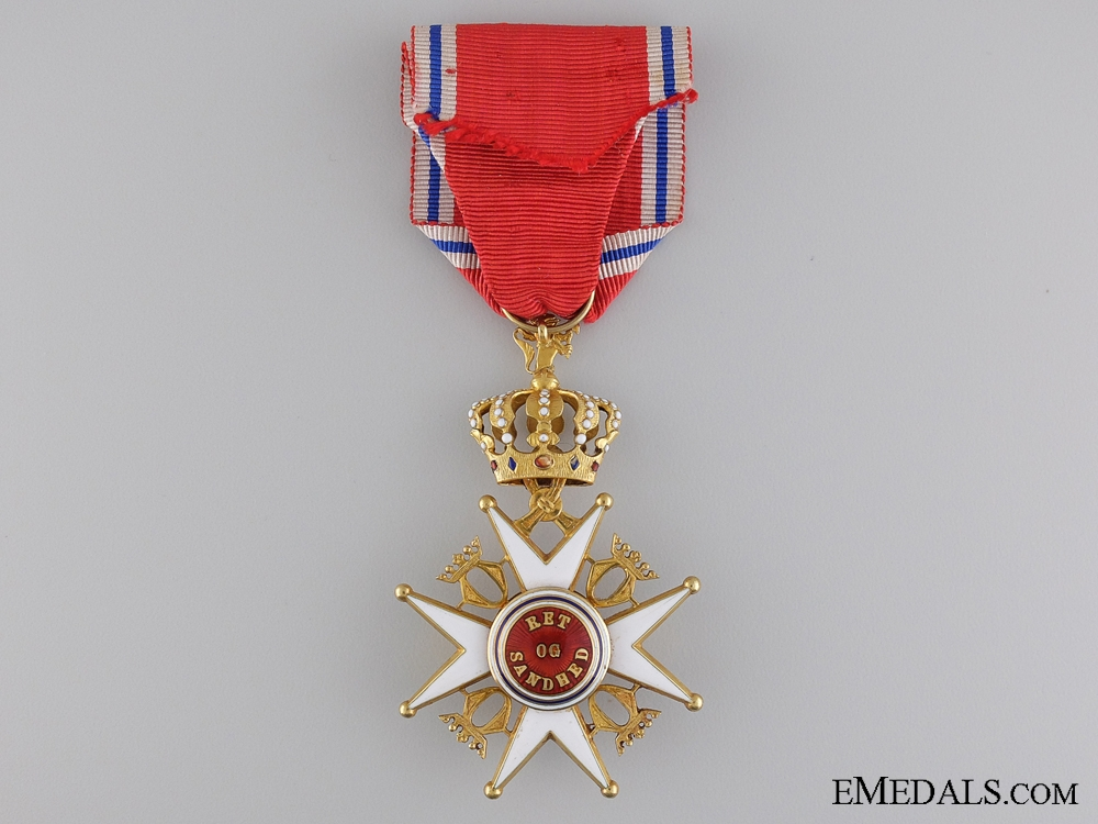 A Royal Norwegian Order of St. Olav; Knight's Cross, First Class