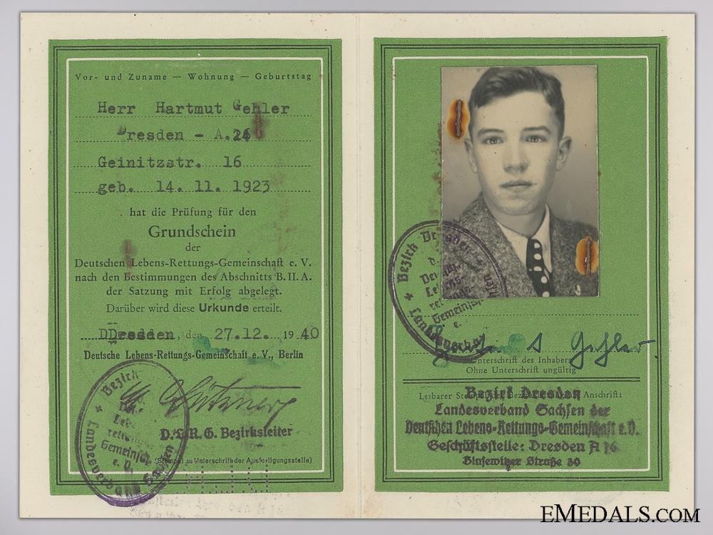 Three Documents to Hartmut Gehler; DLRG & SA Sports