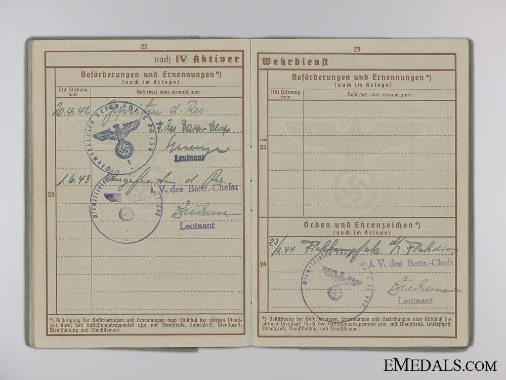 A Luftwaffe Wehrpass to Spotlight Battery & Denmark Service