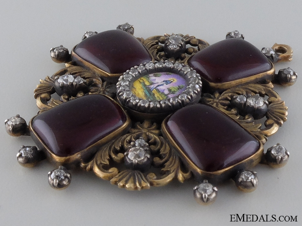 An Exceptional Order of St.Anne with Diamonds c.1870