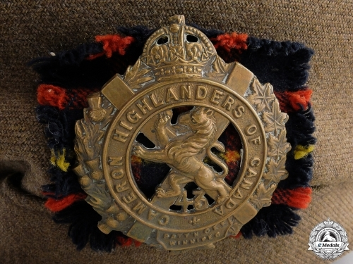 A First War Cameron Highlanders of Canada Beret
