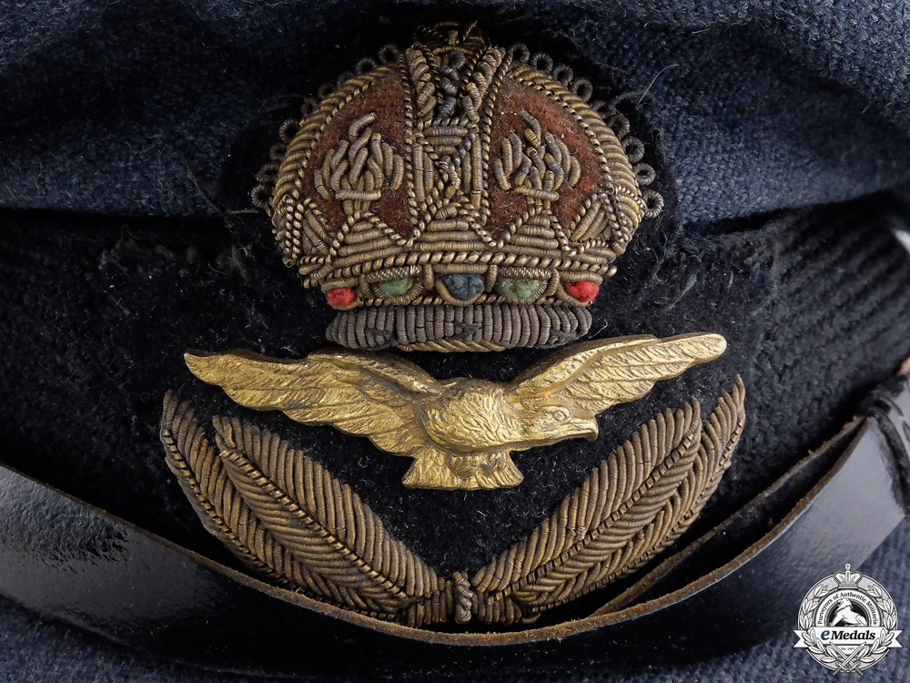 A Second War Royal Canadian Air Force (RCAF) Officer's Service Cap