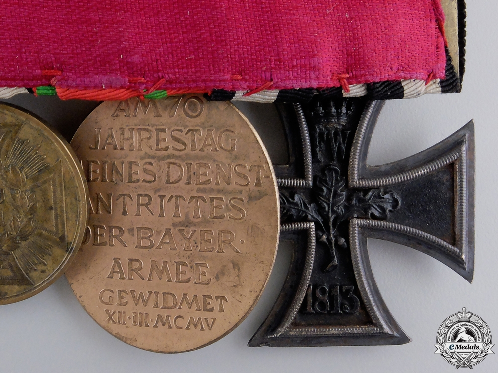 A Bavarian 1870 Franco-Prussian Iron Cross Medal Bar