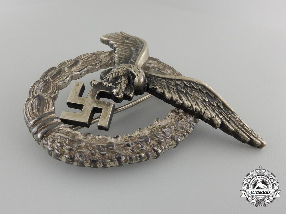 An Early Cased Luftwaffe Pilot's Badge by Gebrder Wegerhof