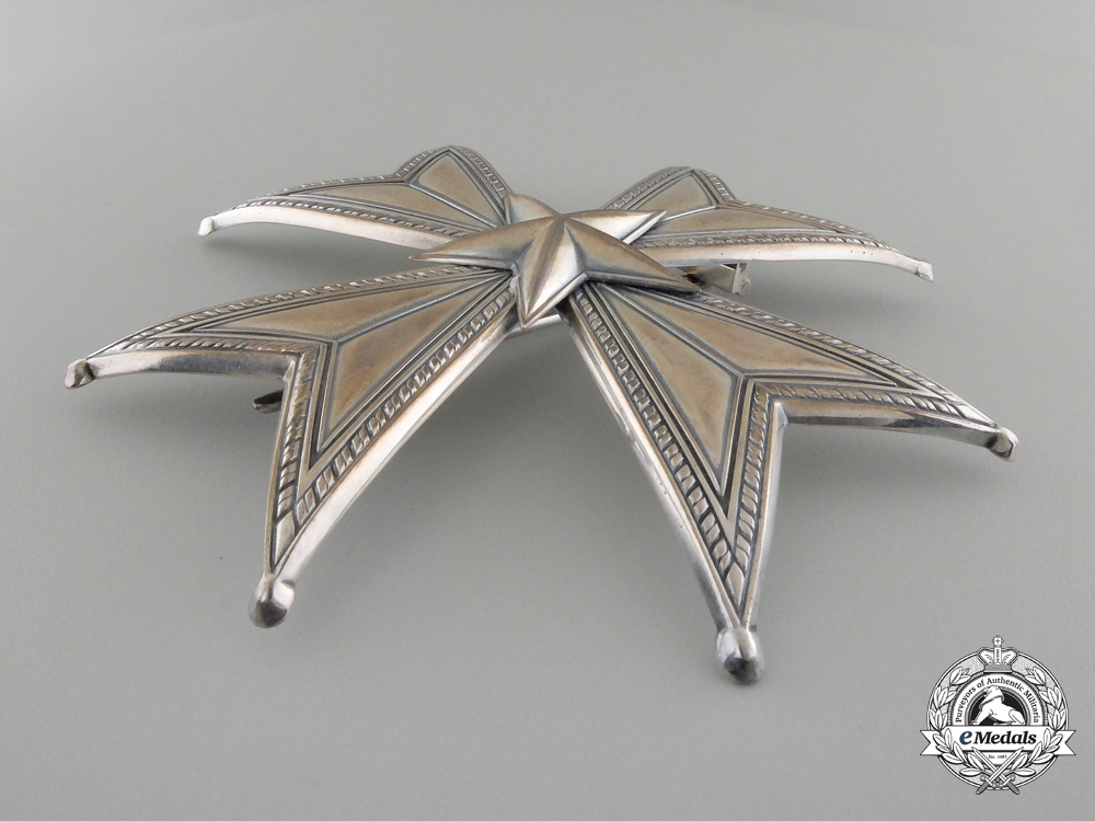 A Swedish Order of the North Star; Grand Officer Breast Star