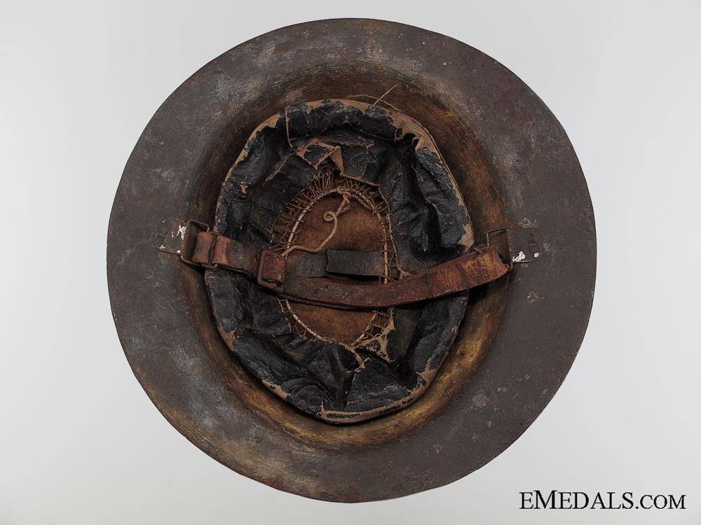 A Scarce WWI 1st Type Canadian Helmet