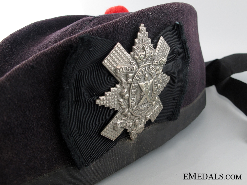 WWI Black Watch (Royal Highlanders) Glengarry Cap