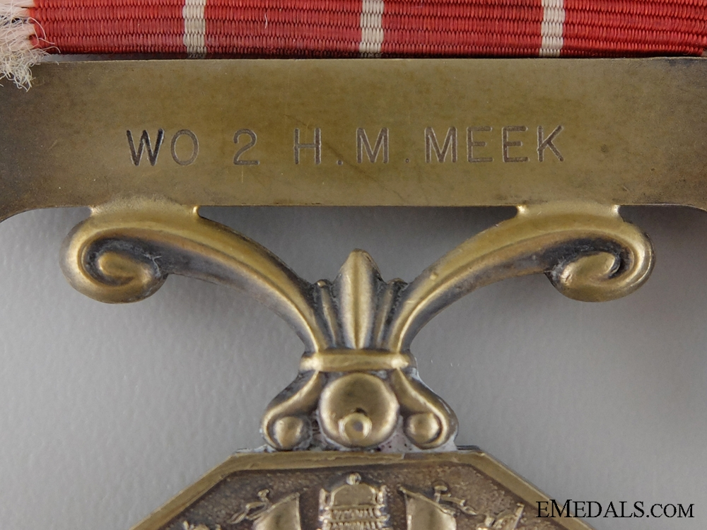 A Canadian Forces Decoration to Warrant Officer Meek
