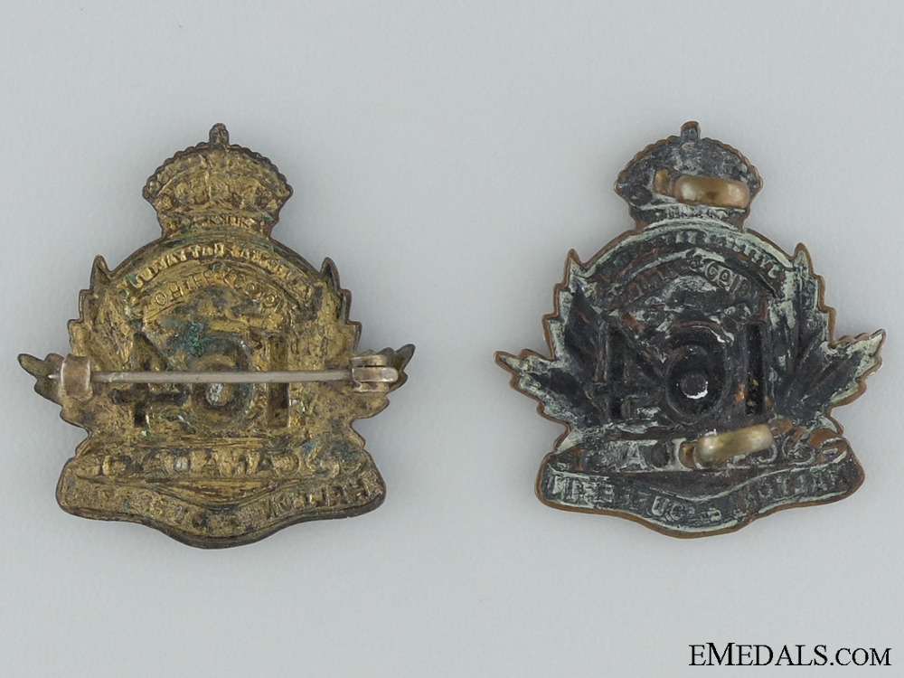 WWI 164th Infantry Battalion Collar Pair