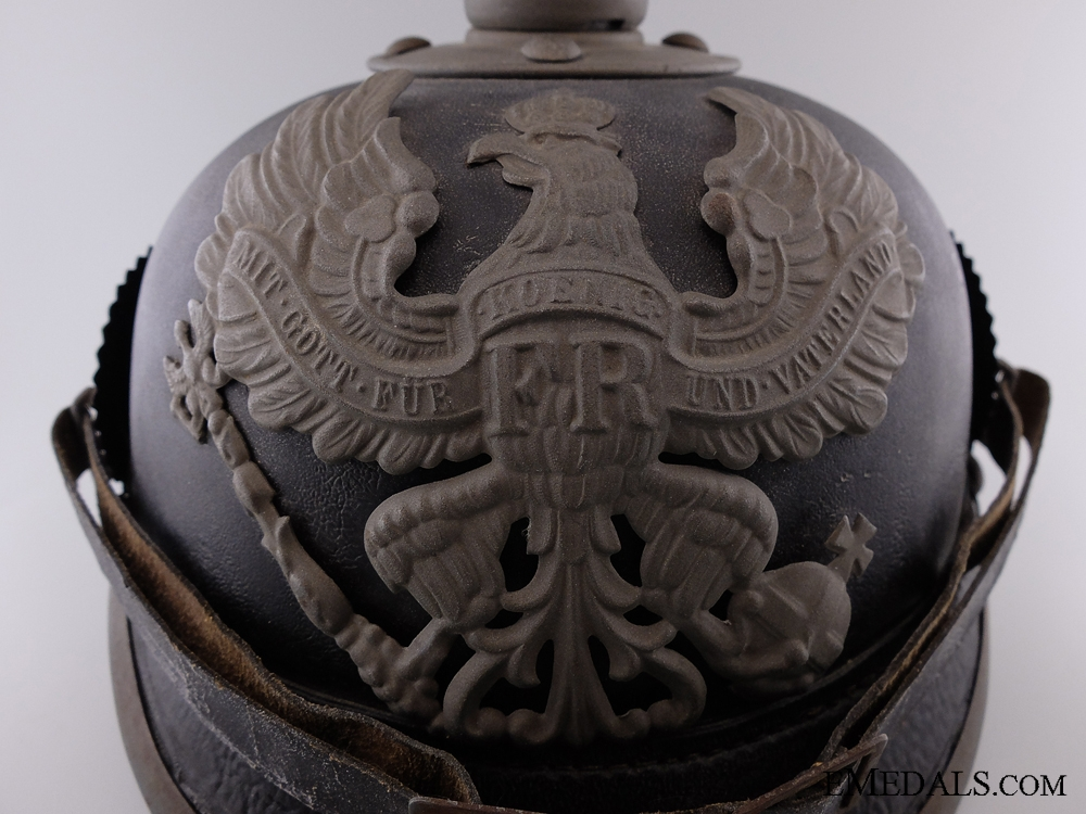 An Imperial Prussian Enlisted Pickelhaube 1916; 8th Regiment
