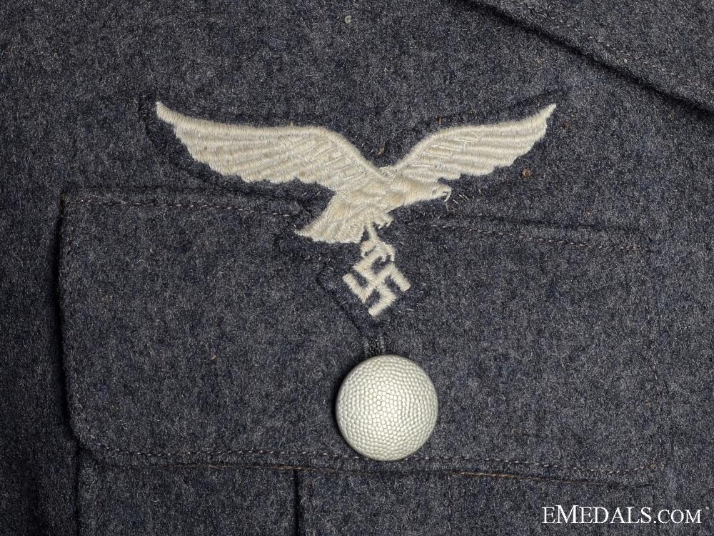 A Second War German Luftwaffe Service Uniform with 1940 Side Cap