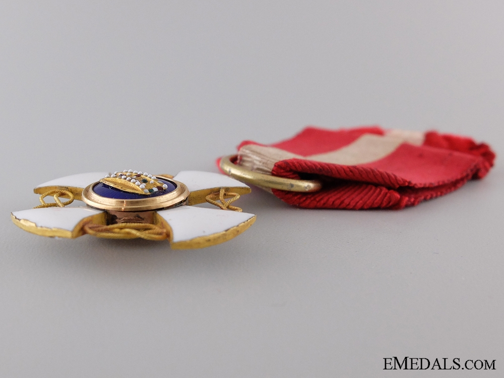 A Order of the Crown of Italy Awarded to Enrico Orengo July 1884