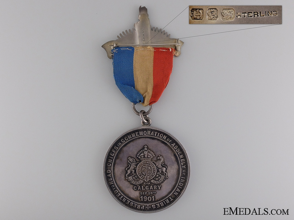 A Rare Edward VII Indian Tribes Assembly Chiefs Medal
