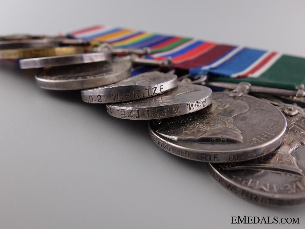 A Group of Nine Awards to Regimental Sergeant Major Fritze