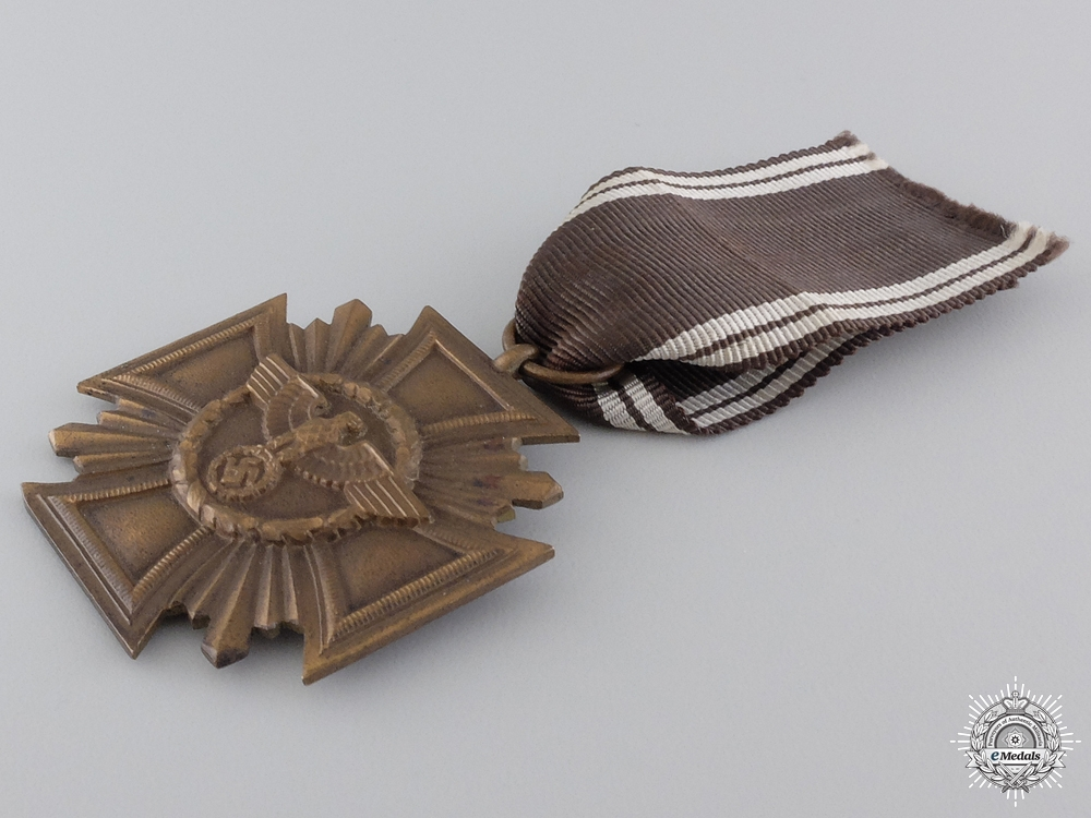An NSDAP Long Service Award; Ten Year Service in Case