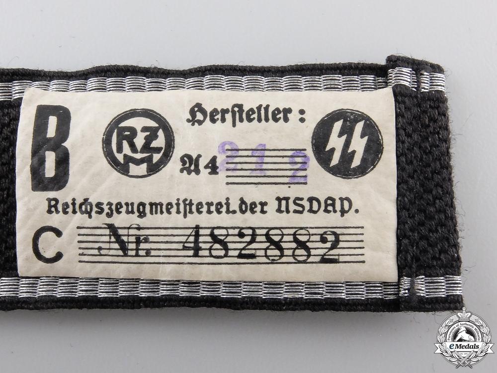 """An Allgemeine-SS Standarte """"8"""" Cufftitle; RZM Tags"""