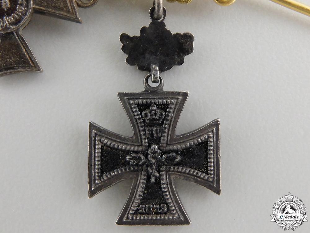 An 1870 Iron Cross Miniature Group
