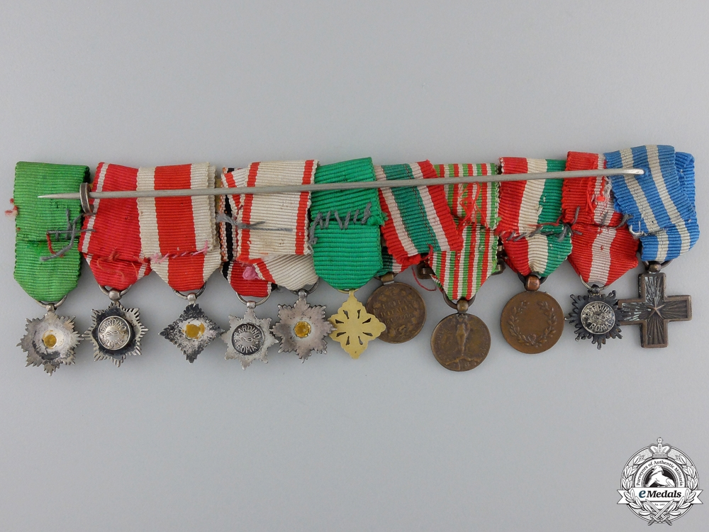 A Grand Cross Miniature Set to the Wartime Mayor of Rome Giangiacomo Borghese