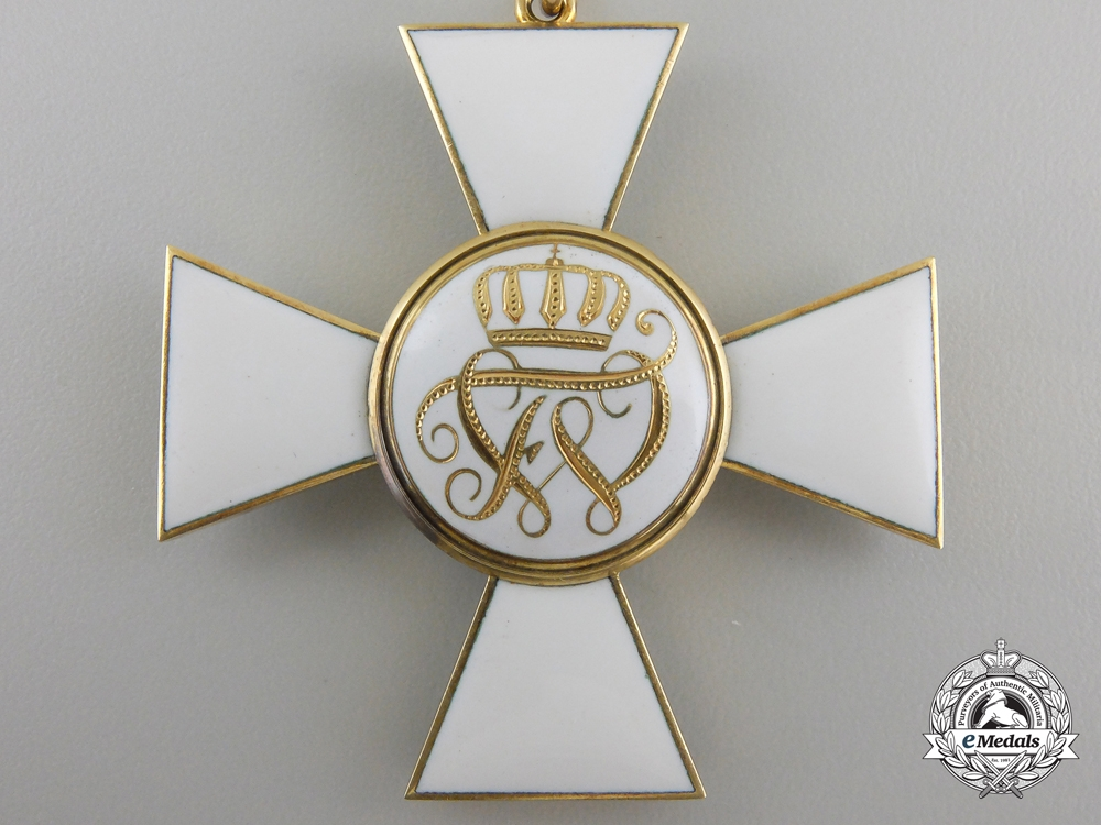 A Prussian Red Eagle Order; Second Class Cross in Gold by Godet, Berlin