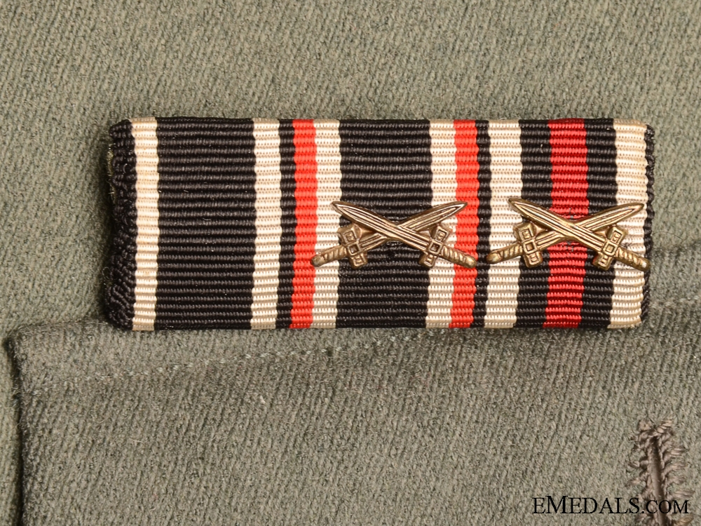 A German Army Officer's Tunic with Belt & Awards