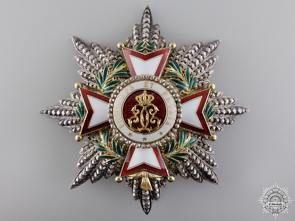 An Order of Charles of Monaco in Gold; Grand Cross by Halley