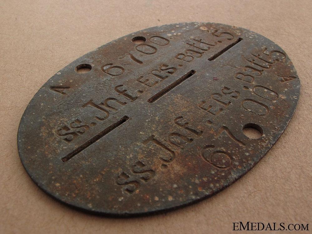 A Waffen SS ID Disc