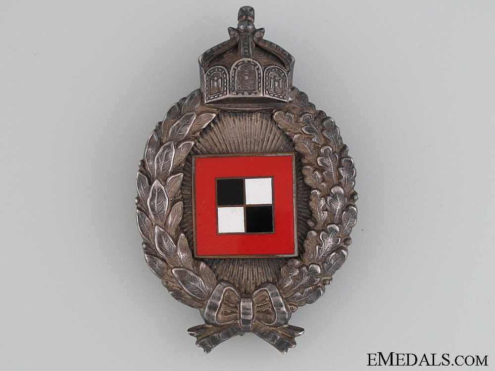 A Cased WWI Prussian Observers Badge by Juncker