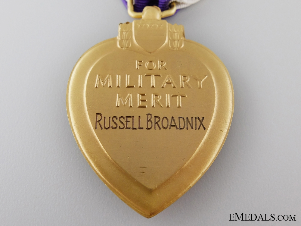 United States. A Bronze Star & Purple Heart Group to Russell Broadnix