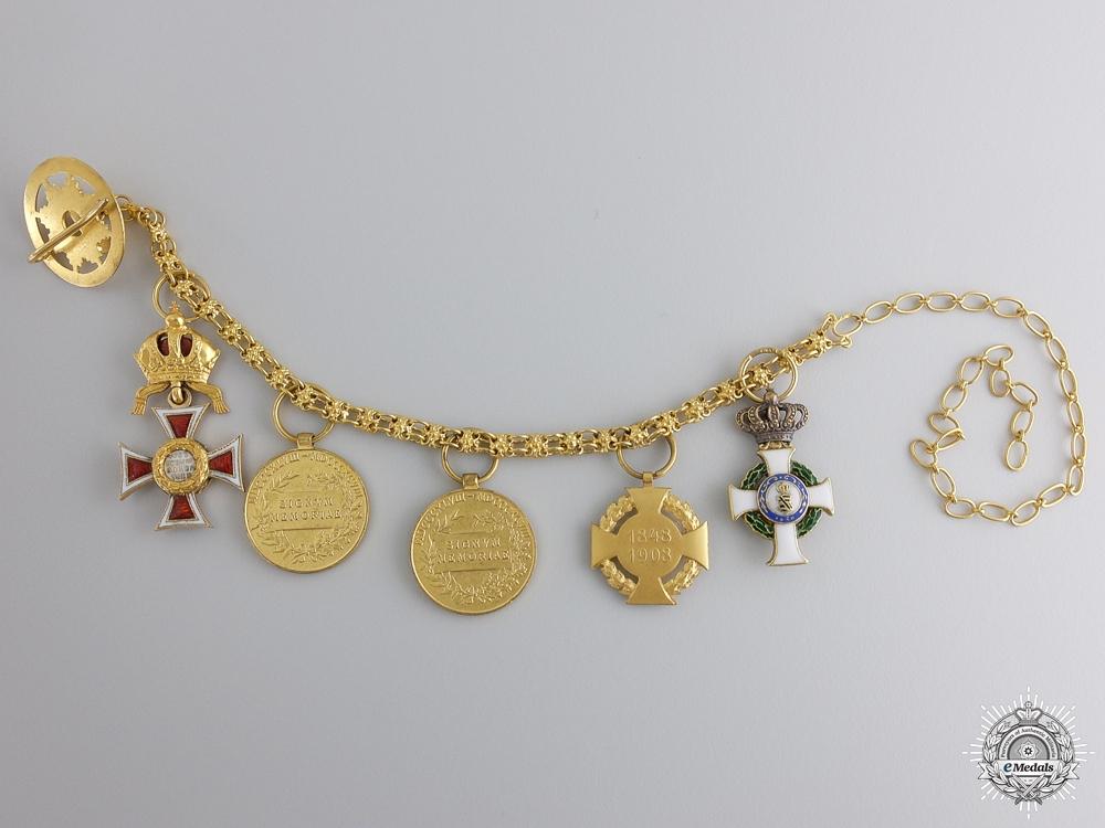 A Fine Austrian Miniature Chain in Gold by V. Mayer
