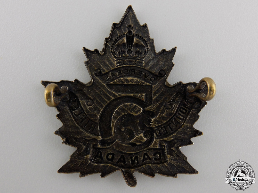 A First War 5th Mounted Rifle Battalion Cap Badge