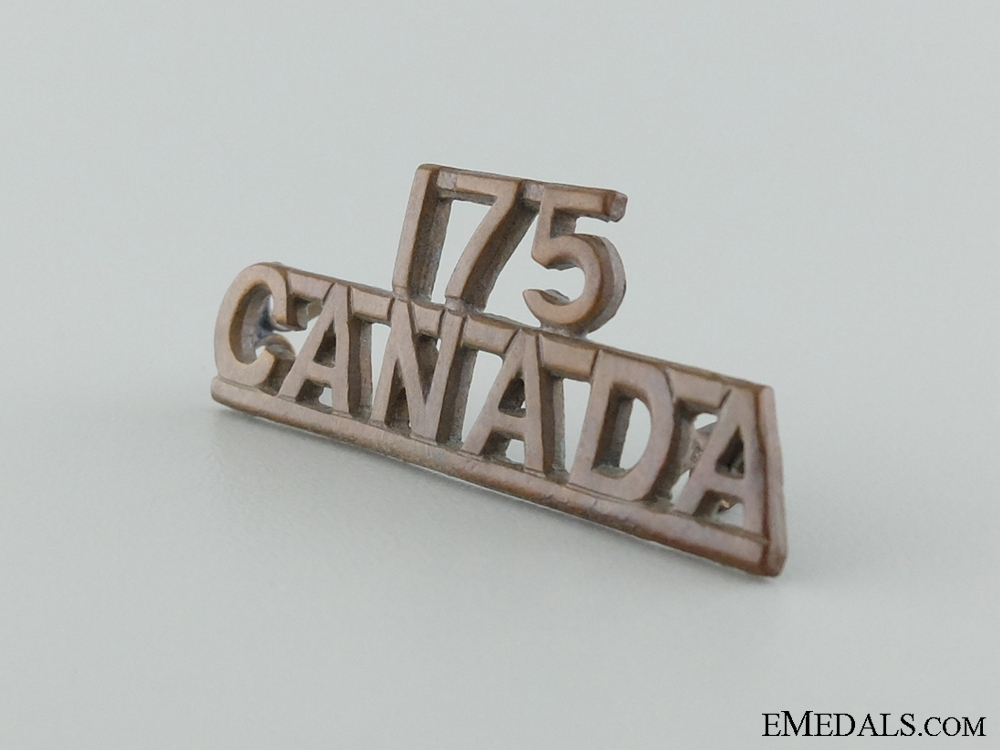 A 175th Canadian Infantry Shoulder Insignia