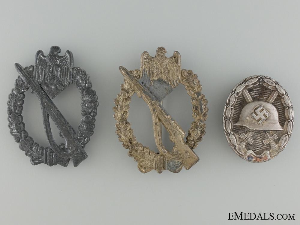 Three Third Reich German Badges