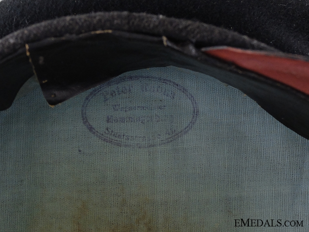 A Saxon First World War Transport Visor Named to Peter Rabus