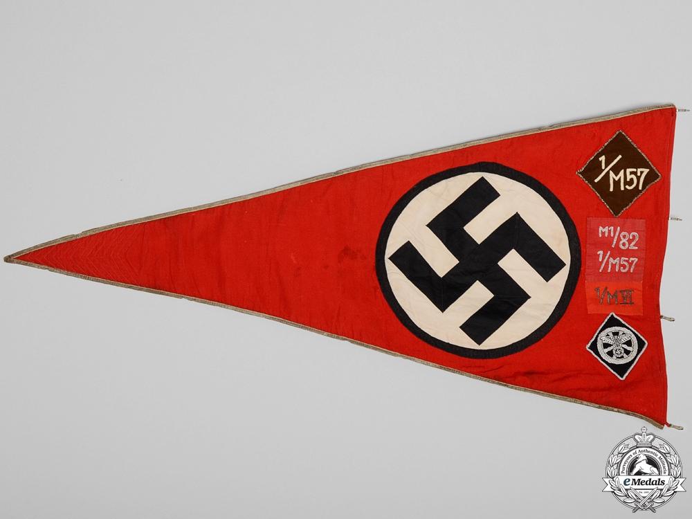 A Rare NSKK Sturmbann Unit Pennant
