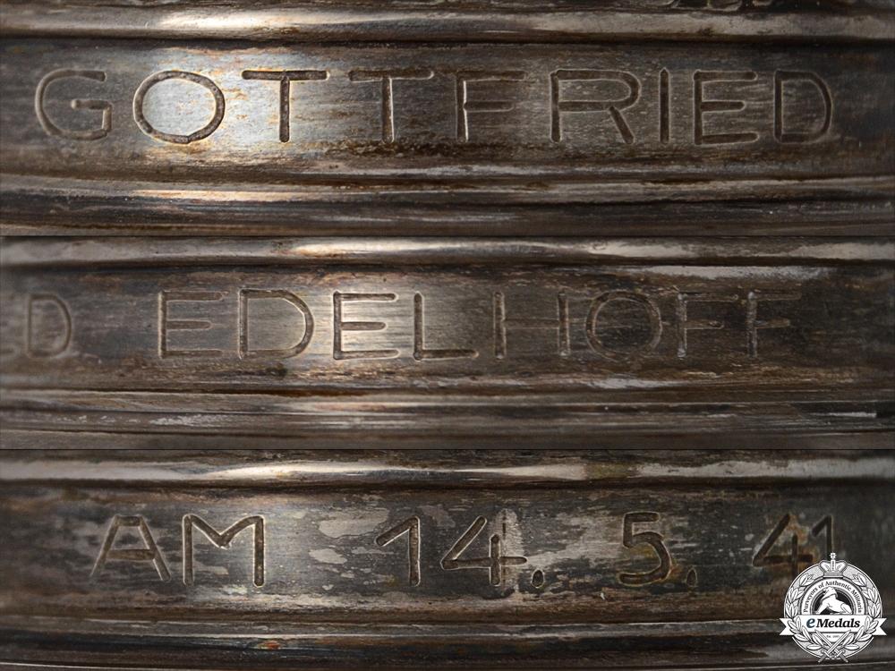 A Luftwaffe Honor Goblet to Leutnant Gottfried Edelhoff
