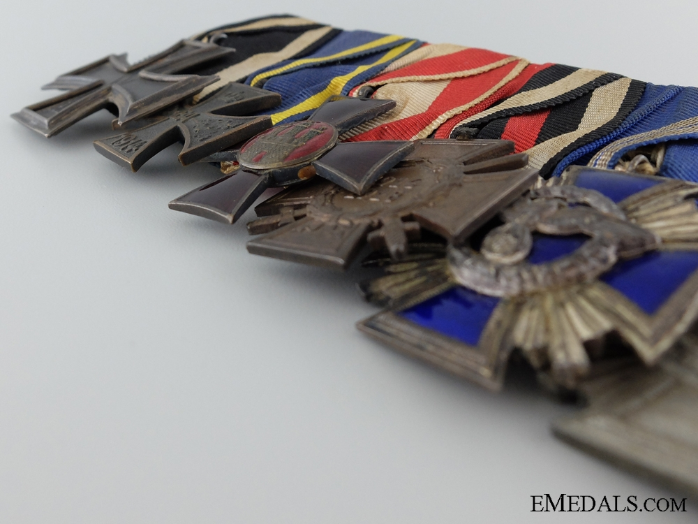 A Medal Bar and Red Cross Award Attributed to Karl Fiehler