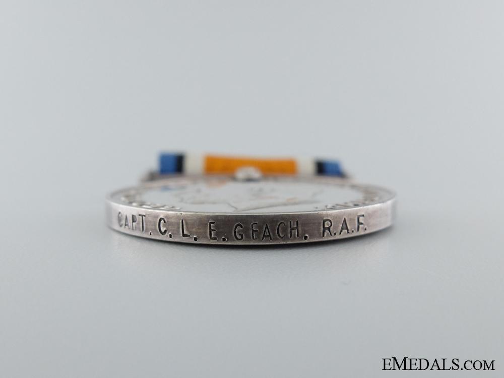 A First War War Medal to Captain Geach; Air Force Cross Recipient