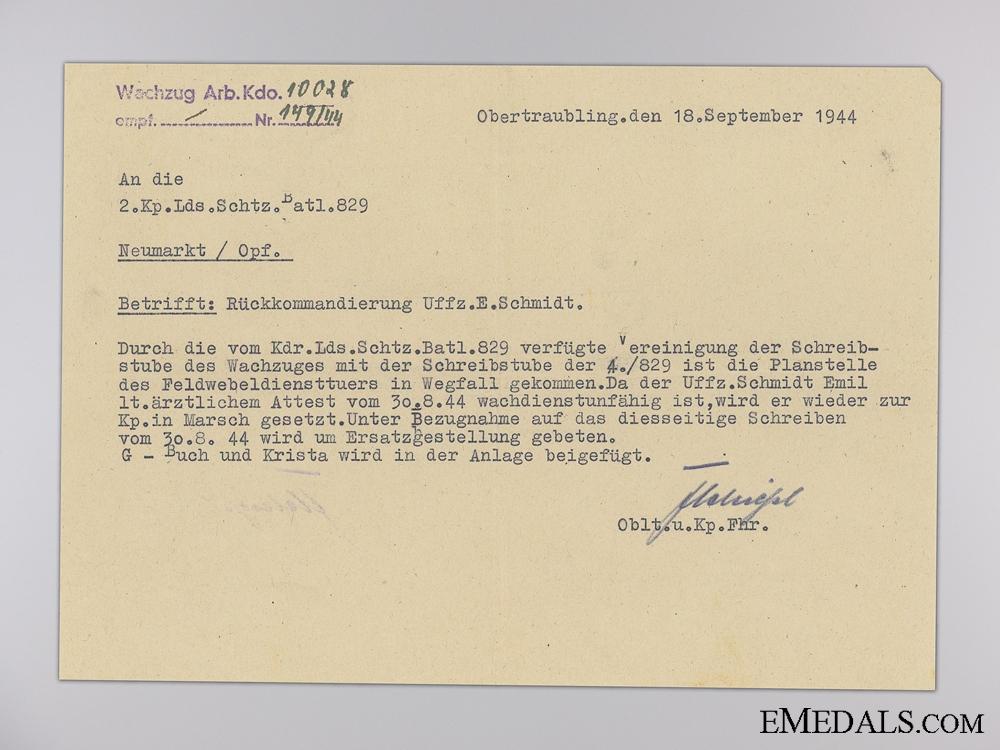 The Wehrpass of Emil Schmitz; Iron Cross Recipient